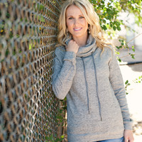 Cowl Neck Pullover - 2 Colors