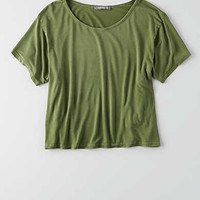 Don't Ask Why Boxy Cropped T-Shirt, Olive