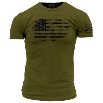 New GRUNT STYLE AMERICAN VINTAGE   FLAG   T Shirt