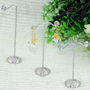 3pcs/lot Jewellery Display Holder Silver Earring Jewelry Stands Showcase  Stand Holder ES0118