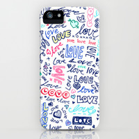 Love Love Love - ballpoint doodles iPhone & iPod Case by Micklyn