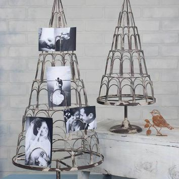 Rustic Vintage Country Style Card / Photo Tree Holder Display - Set of Two Sizes