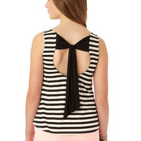 Stripe Bow Back Tank