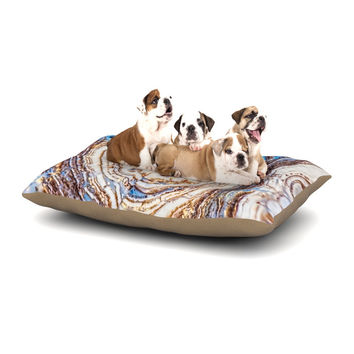 "KESS Original ""Crystal Agate"" Blue Gold Dog Bed"