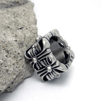 Jewelry Stylish Gift Shiny New Arrival Titanium Cross Ring [6542638403]