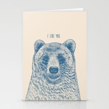 Bear (Ivory) Stationery Cards by Rachel Caldwell