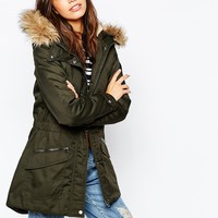Only Faux Fur Parka Jacket