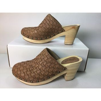 Free People Brown Adelaide Clog, Size 9US / 39EU