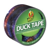 Duck Brand 283039 Printed Duct Tape, Galaxy, 1.88 Inches x 10 Yards, Single Roll