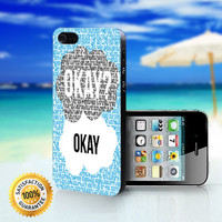 The Fault In Our Star, Okay Quotes - For iPhone 4/4s, iPhone 5, iPhone 5s, iPhone 5c case. Please choose the option