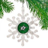 Dallas Stars Traditional Snowflake Ornament - http://www.shareasale.com/m-pr.cfm?merchantID=7124&userID=1042934&productID=555880744 / Dallas Stars