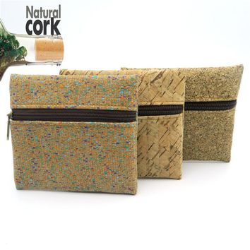 Natural cork handmade coin purse coin bag vegan cork women wallet Wooden vintage BAG-146  from Portugal