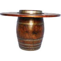 Full Barrel Bistro Table (Made from Wine Barrels)