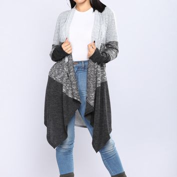 Going Around The Block Cardigan - Grey