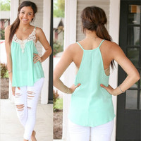Fashion Women Summer Crochet Vest Top Sleeveless Blouse Casual Tank Tops T-Shirt = 5618638913