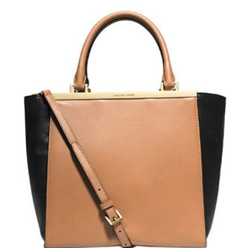 Michael Michael Kors Medium Lana Colorblock Leather Shoulder Tote