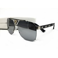 Versace Sunglasses VE2165 13718G Black/Grey Gradient Lens Aviator
