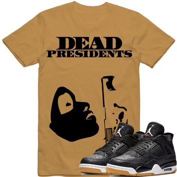 PRESIDENTS Sneaker Tees Shirt - Jordan 4 Black Laser