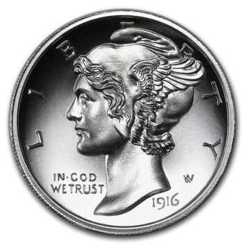 2 oz Silver Ultra High Relief Round - Mercury Dime