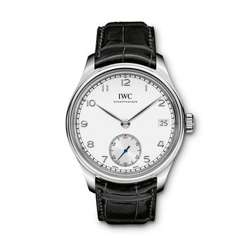 IWC Portuguese Manual Silver-Plated Dial 8 Days SS Men's Watch IW510203