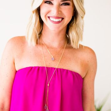 Keep Moving Forward Layered Druzy Necklace