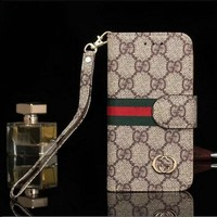GUCCI Fashion Print Metal iPhone Phone Cover Case For iphone X iphone 8 8plus iPhone6 6s 6plus 6s-plus iPhone 7 7plus