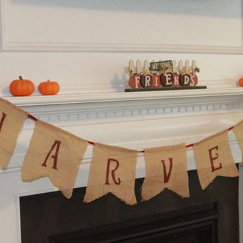 Fall Harvest Banner in Burlap!