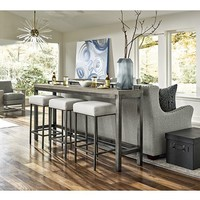 Furniture Channing 4-Pc. Table Set (Console Table & 3 Stools) & Reviews - Furniture - Macy's