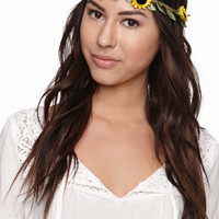 With Love From CA Sunflower Crown at PacSun.com