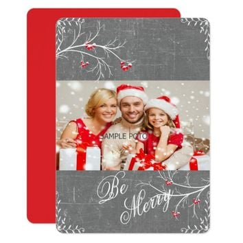 Christmas, Be Merry, Custom Photo Card