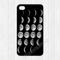 Moon Phases iPhone 4 Case, Moon Phase iPhone 4 4g 4s Hard Plastic Rubber Case, cover skin case for iphone 4/4g/4s cases,More styles