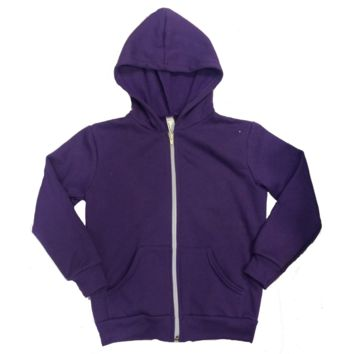 American Apparel Emoji Zip Hoodie - Purple