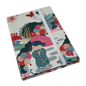 iPad Case Stand 2 3 4 Air Hard Case, iPad Cover, i Pad stand up iPad mini Japanese Kokeshi Dolls Camera Hole option