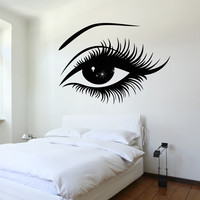 Wall Decal Eyes Sexy Girl Bedroom Vinyl Sticker z3223