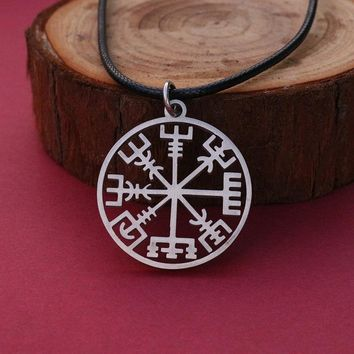 viking stainless steel odin's symbol of norse runic pendant necklace Viking Runes Vegvisir Compass Pendant