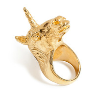 Leivankash - Gold-Plated Unicorn Ring