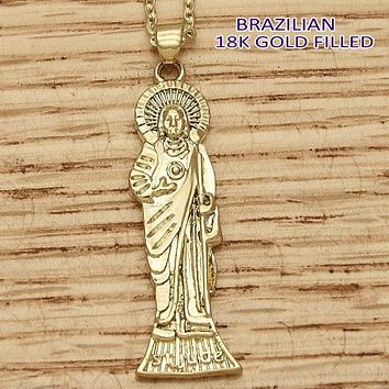 Gold Layered Men and Women Jesus Religious Pendant, by Folks Jewelry