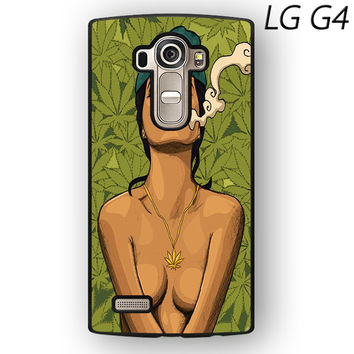 Girl Smoking Weed Art Marley Blunt Sexy for LG G3/LG G4 phonecase