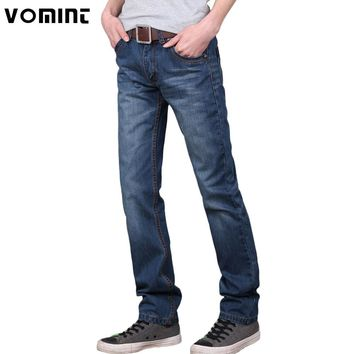 Vomint 2017 Brand  men jeans pants Dark Wash Jeans Casual ripped jeans for men Effect Stonewashed High Quality Jeans Denim male