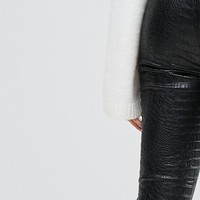Ivyrevel High Waist Faux Snake Skin Skinny Pants at asos.com