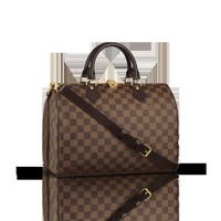LOUISVUITTON.COM - Louis Vuitton  Speedy 30 with Shoulder Strap (LG) DAMIER EBENE Handbags