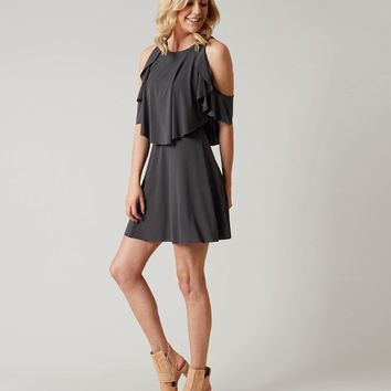 RED BY BKE HIGH NECK DRESS