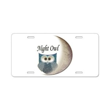 NIGHT OWL ALUMINUM LICENSE PLATE