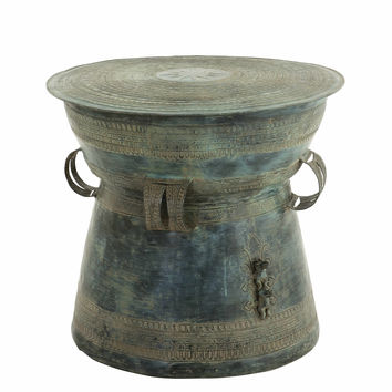 Antique Green Side Table | Eichholtz Drum Thai