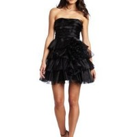 Jessica Simpson Women's Tiered Strapless Ruffle Dress