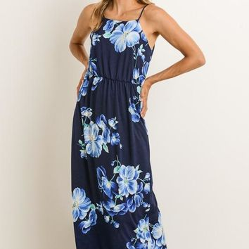 Aloha Maxi Dress - Navy