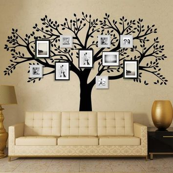Brand Family Tree Wall Decals Vinyl Wall Decal Photo Frame Tree Stickers Living Room Home Decor Wall Sticker
