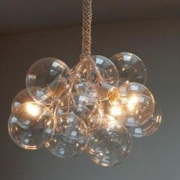 Bubble Chandelier by Jean Pelle Original Size by jeanpelle on Etsy