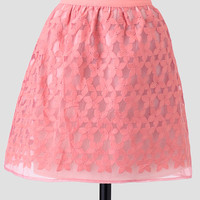 Spring Ballet Embroidered Skirt