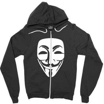 anonymous misteryous Zipper Hoodie